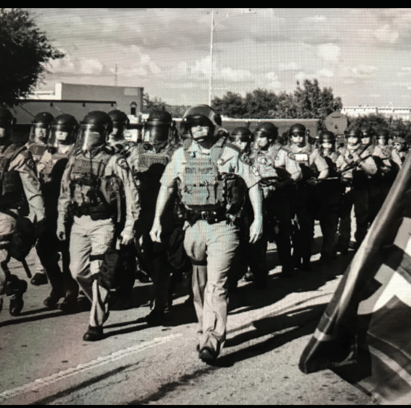Troopers marching into protest weatherford 2020  1