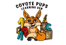 Medium coyote pups logo